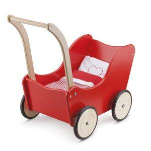 Gepersonaliseerde rode poppenwagen