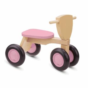 Gepersonaliseerde roze loopfiets