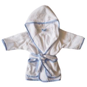 Gepersonaliseerde badjas wit / blauw